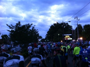 Assault on Mount Mitchell starting line
