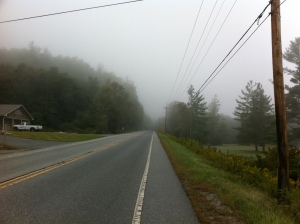Foggy hwy 105