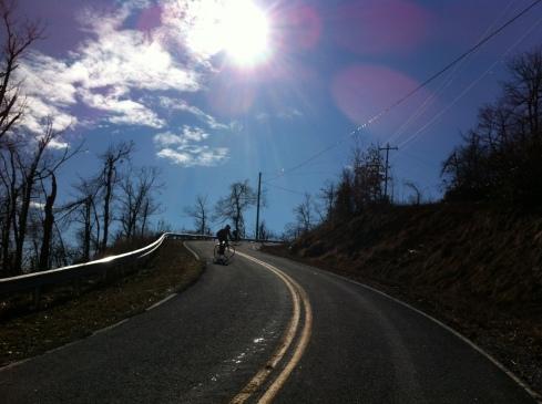 Near the top of Pinnacle Mountain.
