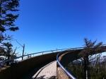 Climbing the ramp.