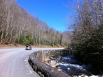 Riding along the Oconaluftee River