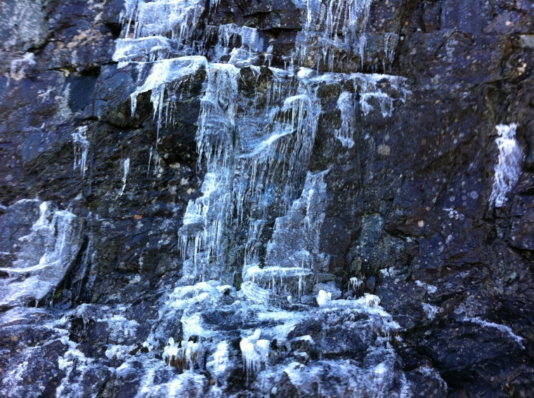 The ice wall up close.