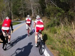 We rode with these Canadian cyclists along Hwy 178.