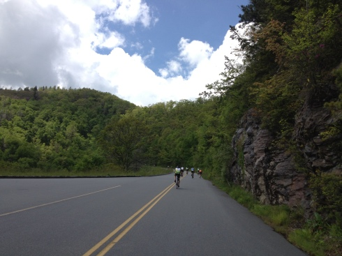 The Blue Ridge Parkway was gorgeous today.