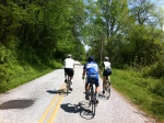 Riding along East Fork towards Rosman