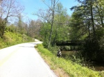 There were lots of fishermen on East Fork Road.