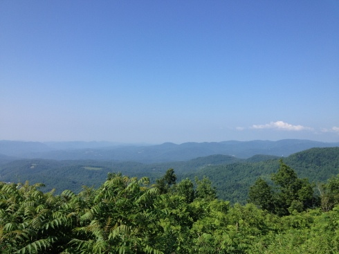 Foothills view from the Blue Ridge Parkway.