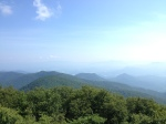 This was the least hazy view from Brasstown Bald.
