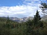 view of peaks from below