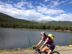 Kelli spinning her away along Echo Lake.