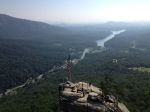 Gorgeous views of Chimney Rock and Lake Lure from above.