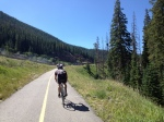 This was around 12%. The ride to Vail Pass could be steep.