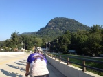 Second pack, circling back around Lake Lure.