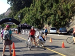Kristin Schmitz crossing the finish, always with a beaming smile!
