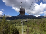Another view of the Breckenridge gondolas from the ground.