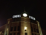 Hello, Coors Field.