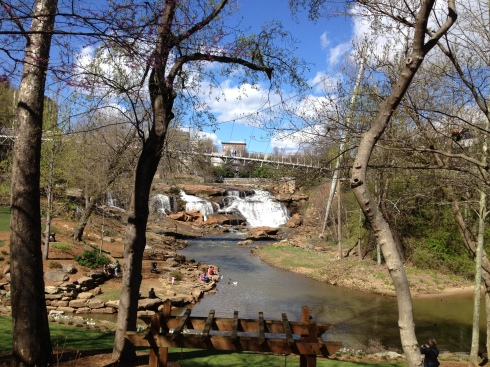 The other side of Falls Park, downtown Greenville.