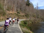 Cruising along the scenic East Fork Rd.