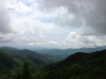This was our view from the Blue Ridge Parkway.