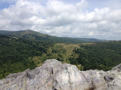 The view from Big Pinnacle. That's either Rogers or Whitetop.