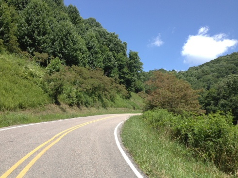 One of the steep inclines near the end of Beaver Dam Rd.
