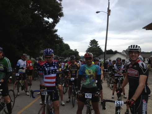 Scott, Spongebob and Captain America at the front.