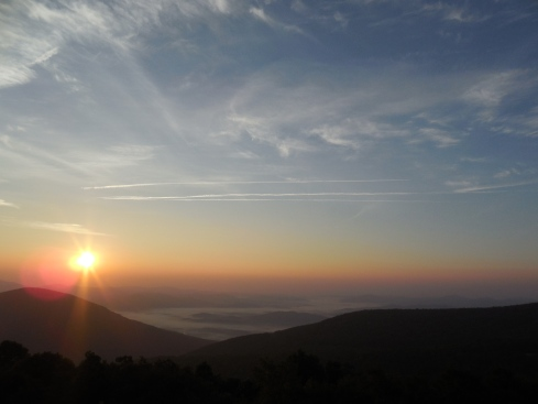 Sunrise at the Wintergreen Resort.