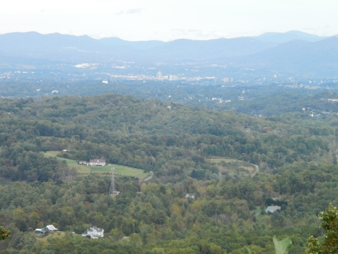 We had a nice view of Roanoke midway through the climb.