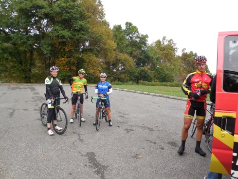 Wes, Nancy, Julie and Bobby refueling.
