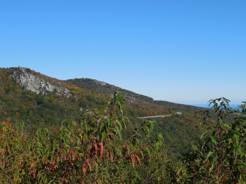 Another view of the bridges that lead to Grandfather Mountain.