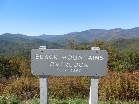 The towering Black Mountains were in our face all day.