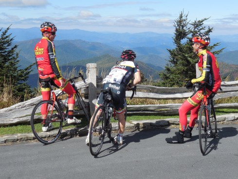 The first riders to the top talking about their conquest.
