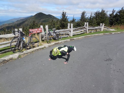 Riding up to Mitchell was not enough for Nancy. 10 pushups!