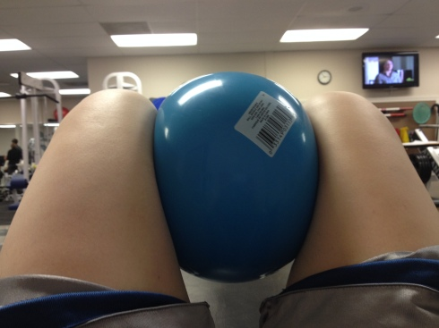 My view during physical therapy.