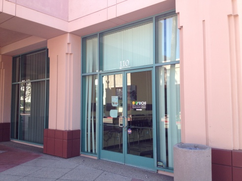The front door to the old office, right around the corner from my apartment.