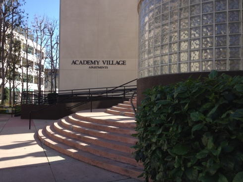 The apartment complex of the Emmy's.