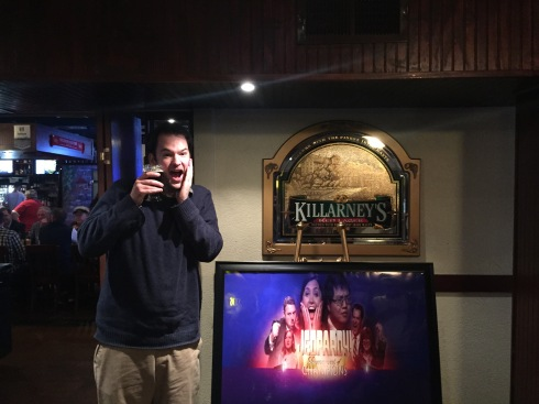 Ben has a sense of humor too. This was his Julia reaction shot.